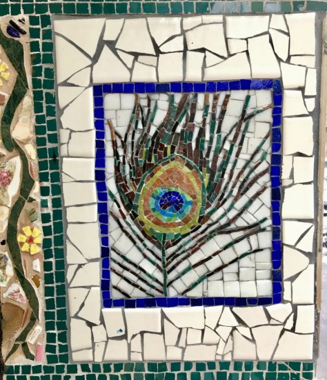 peacock feather mosaic photo by gail worley