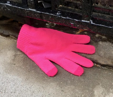 abandoned pink glove photo by gail worley