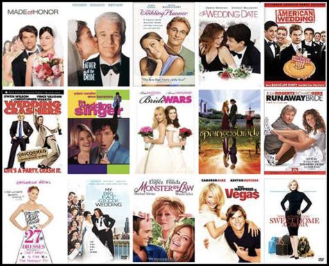 romantic comedy collage