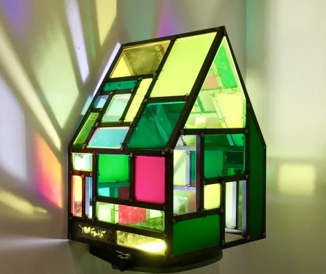 tom fruin mini stained glass house photo by gail worley