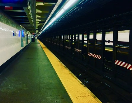 empty subway station photo by gail worley