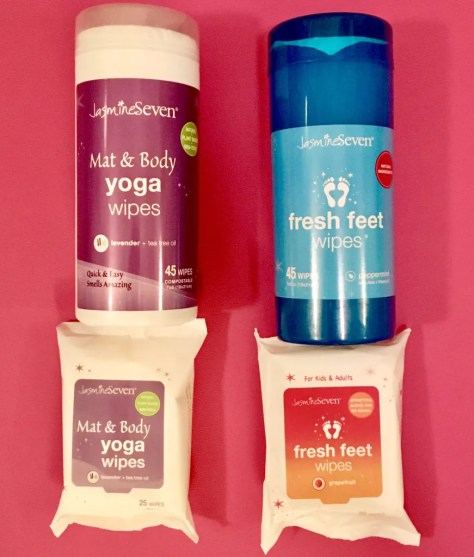jasmine seven yoga and body wipes photo by gail worley