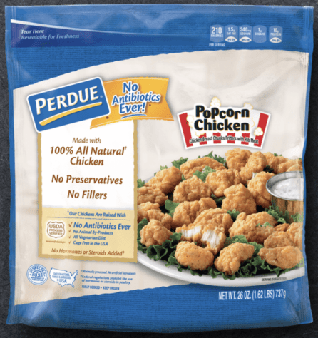 popcorn chicken package