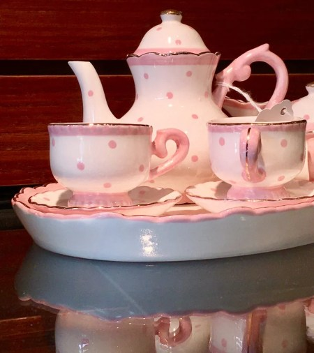 pink tea set photo by gail worley