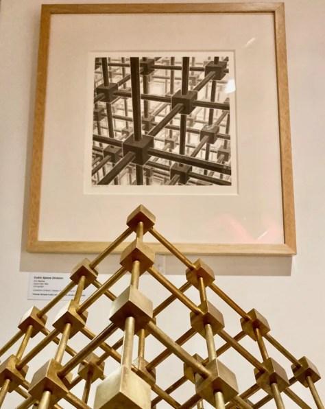 mc escher cubic space division with bakker sculpture detail photo by gail worley