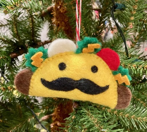 felted taco ornament photo by gail worley