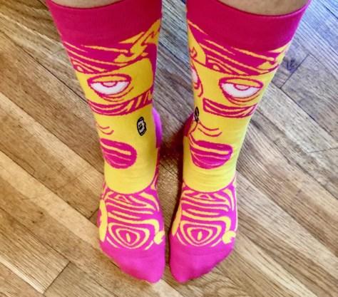 high five socks on feet photo by gail worley