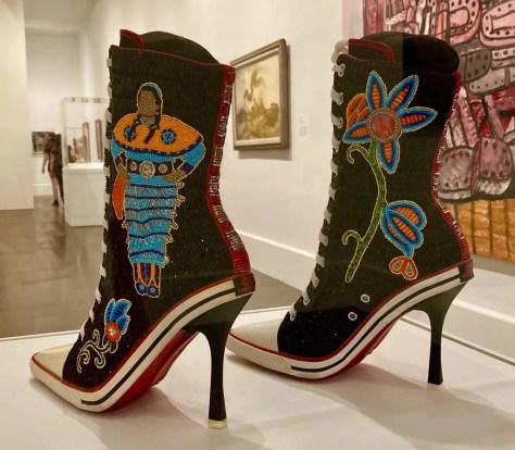 beaded heeled sneakers photo by gail worley