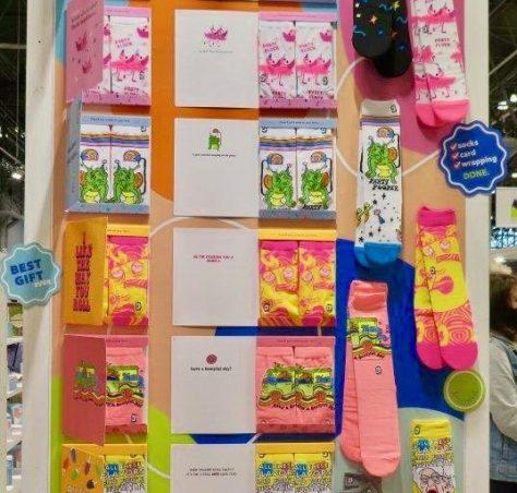 sock card display photo by ken pierce