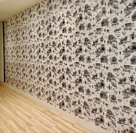brooklyn toile wallpaper photo by gail worley