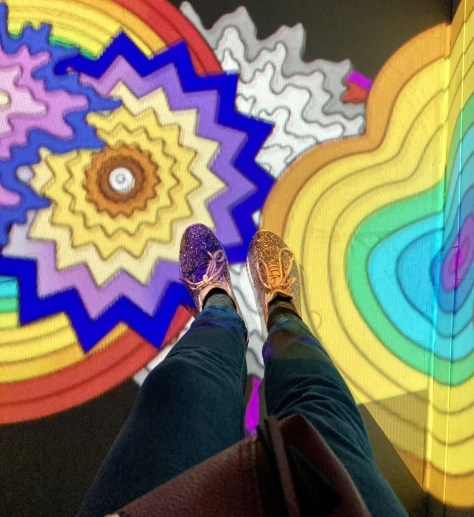 space junk foot selfie photo by gail worley