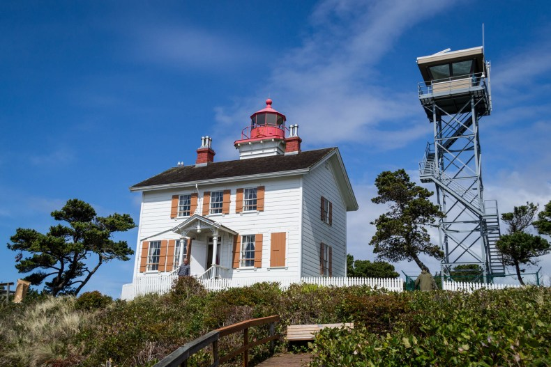 La maison (et le phare) de Yaquina Bay Lighthouse