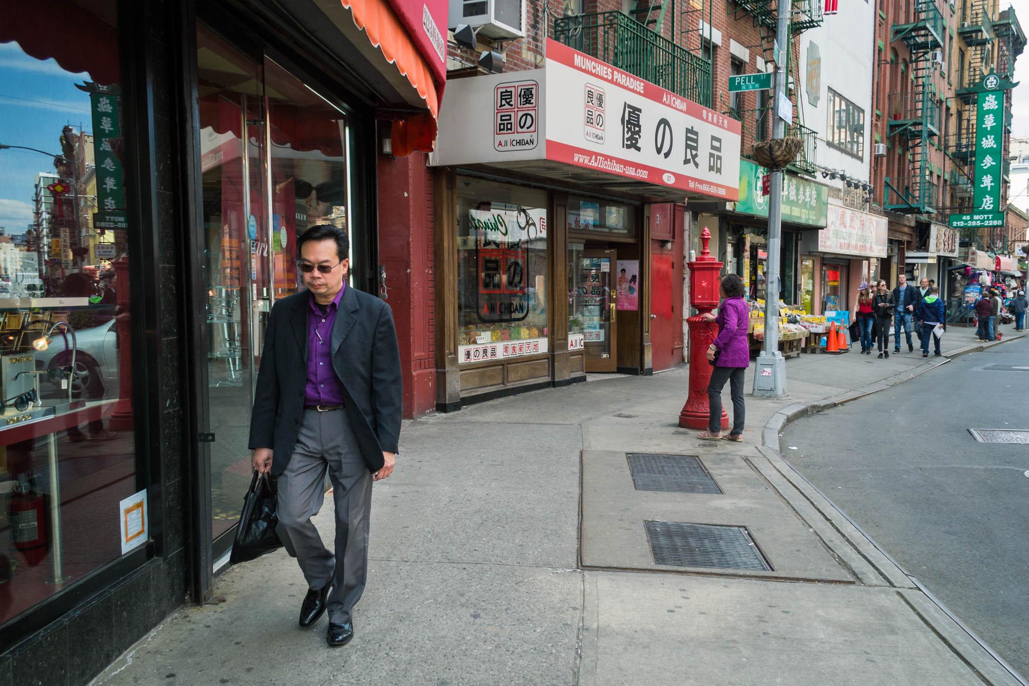 Scène de vie à Chinatown