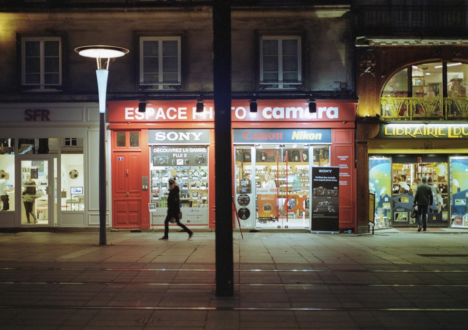 Une boutique photo à Nantes (même si celle là ne vend pas d'appareils argentique !)