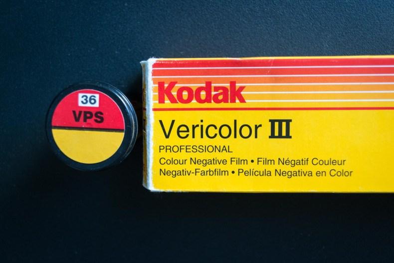 La pellicule utilisée pour ce test : la Kodak Vericolor 3