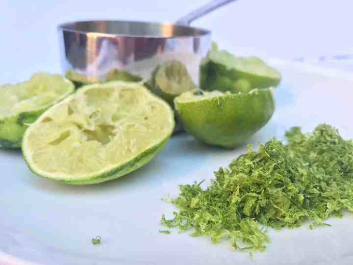 ingredients for coconut lime sorbet