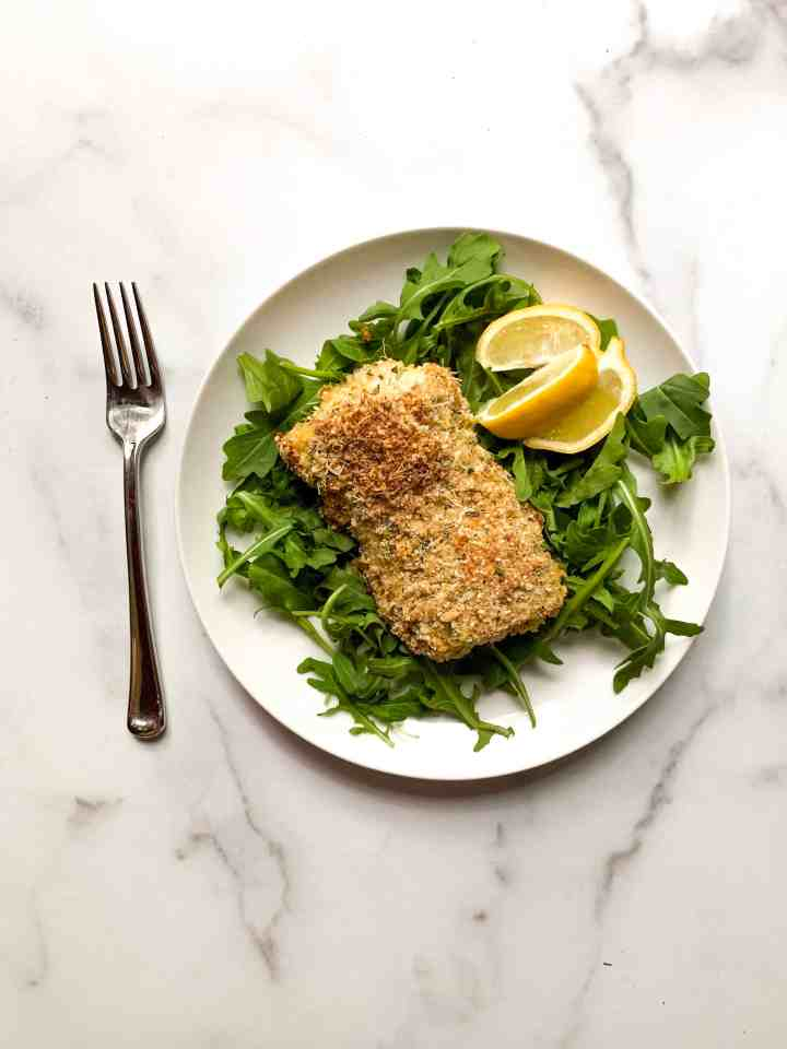 panko and rosemary crusted cod