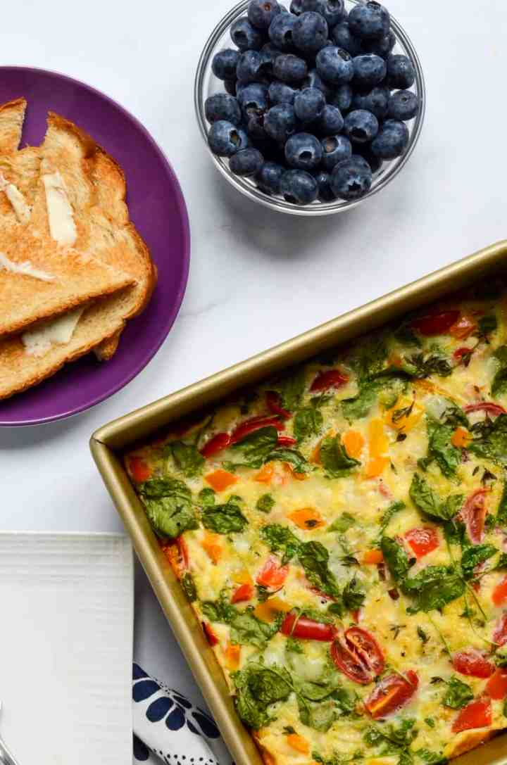 healthy egg and vegetable bake