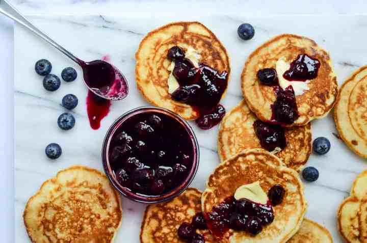 cover your pancakes in blueberry maple compote