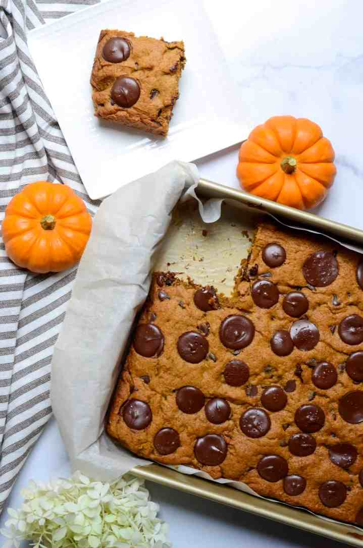 pumpkin bar right out of the oven