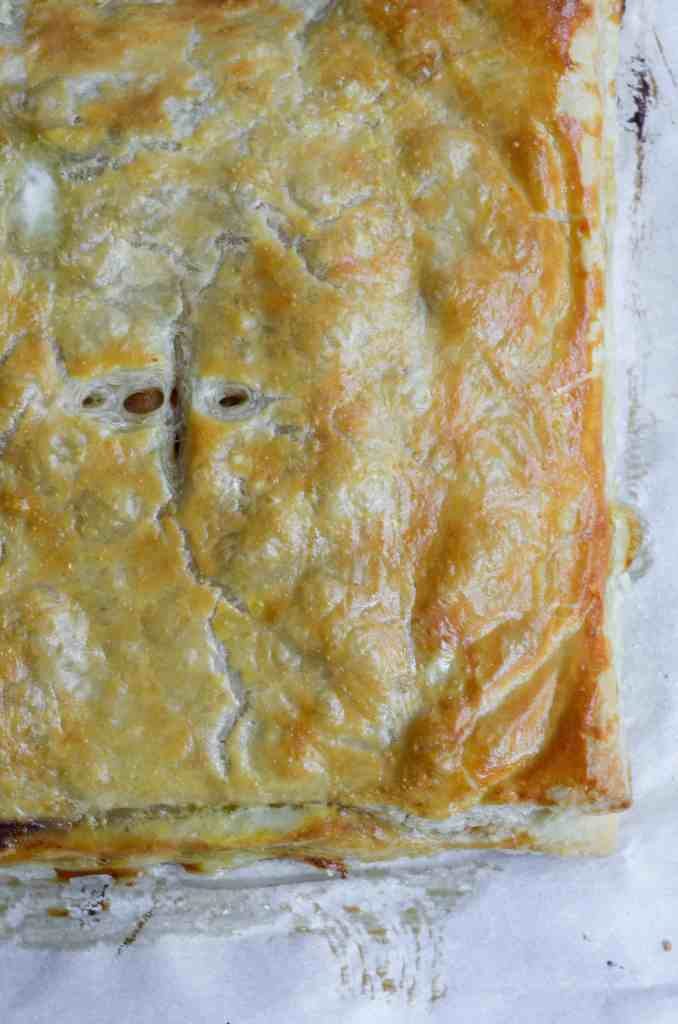 apple slab pie has the most flaky crust that you didn't even have to make!