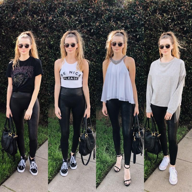 4 ways- Spanx Faux Leather Leggings