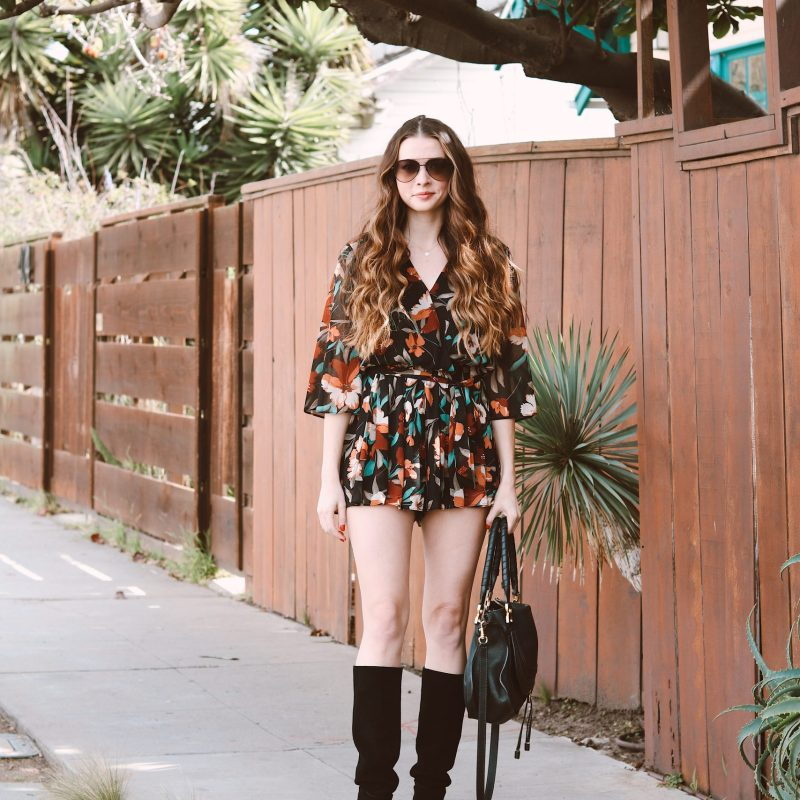 Floral Romper For Spring? Groundbreaking…