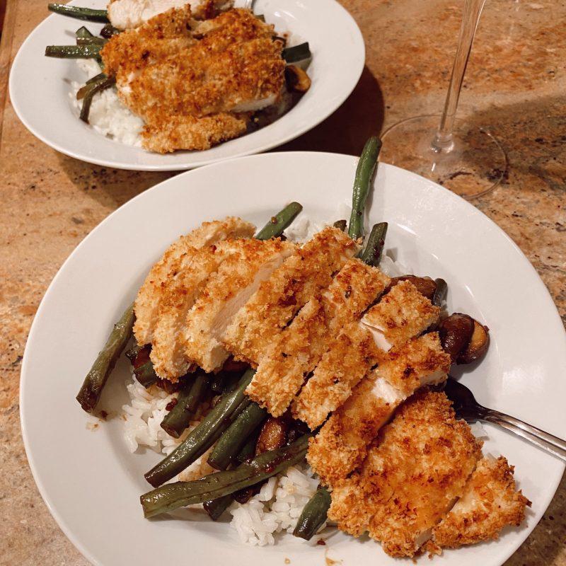 Teriyaki Green Beans & Air Fryer Chicken
