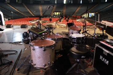 Harrison Wood drum setup