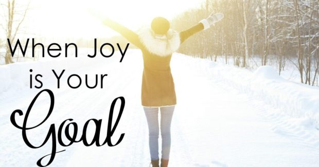 Is Joy your goal? Having a goal means making a plan- and we can make a plan to be sure that we have joy!