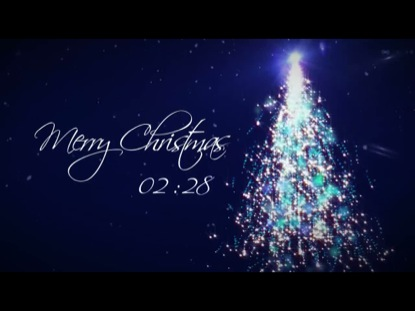 Merry Christmas Sparkling Tree Countdown Flickering Mind