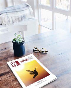 Worship Leader magazine sitting on table