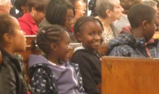 Children in worship, London UK -- by Ana Gobledale