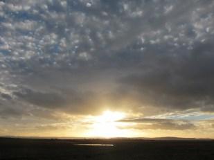 Sunrise at Lindisfarne, Holy Island UK -- Ana Gobledale