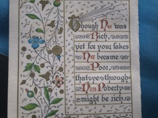 Illuminated manuscript, Wales, UK -- Ana Gobledale