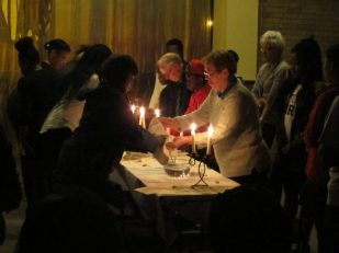Maundy Thursday, washing of the hands, New Cross, London, UK -- by Ana Gobledale