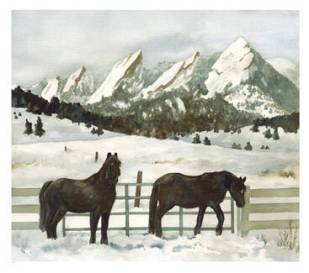 Snowy Day in Boulder, by Anne Gilford, USA