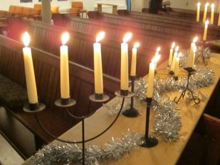 Carols by Candlelight, St Andrew's Brockley, London UK -- Ana Gobledale