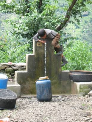 Nepal water tap, by Thandiwe Dale-Ferguson