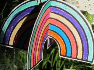 rainbow, Charity Christmas Tree Festival, St Thomas Church, Salisbury UK -- Ana Gobledale