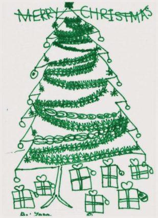Christmas Art -by Chloe, London UK