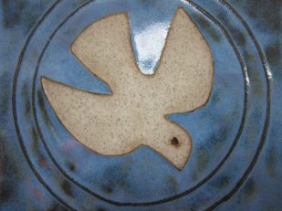dove ceramic tile -- photo by Ana Gobledale
