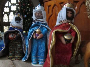 Nativity/Creche/Crib made by Joy Purchase, UK