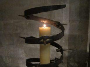 Amnesty Candle, Salisbury Cathedral UK -- Ana Gobledale