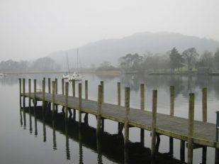 Fog over Lake Windermere, Cumbria UK -- Ana Gobledale