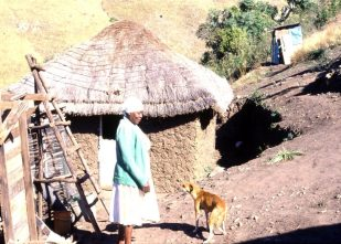 South Africa home, Mfanefile, KwaZulu Natal -- photo by Ana Gobledale