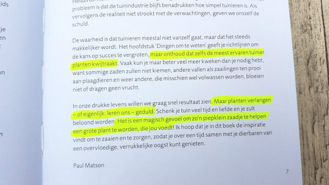 Inleiding uit het Groen(t)e Boekje van Paul Matson