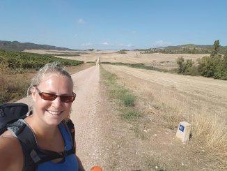 Selfie pelgrimstocht Camino Frances