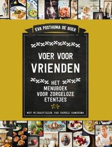Cover Voer voor Vrienden kookboek van Eva Posthuma de Boer