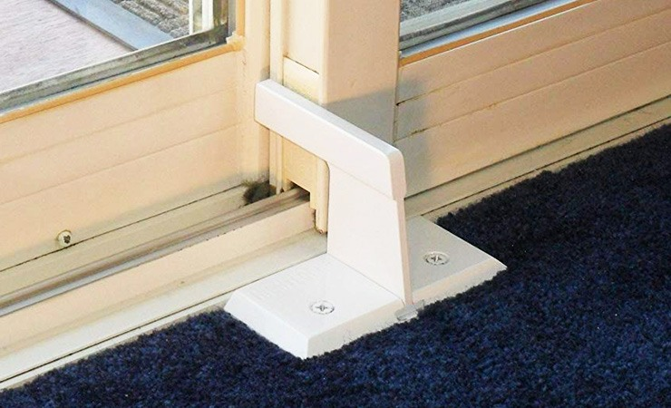 how to secure a sliding glass door